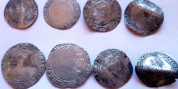 400 year old coins unearthed by Iain Fraser