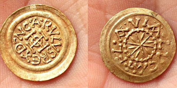 Gold coin found with Teknetics T2 metal detector